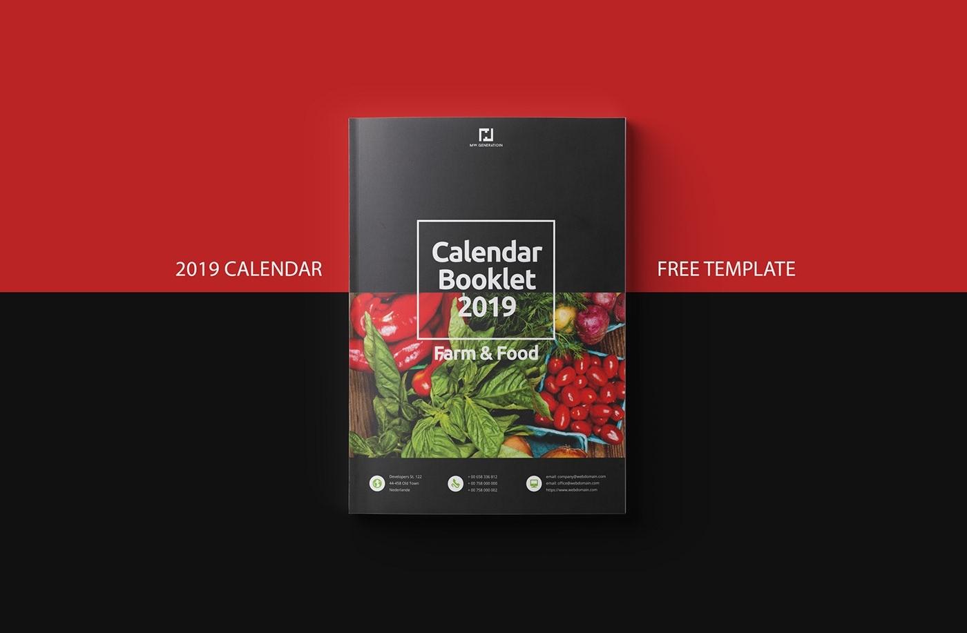 Free Calendar 2019 Indesign Template On Behance Free Calendar Template Indesign