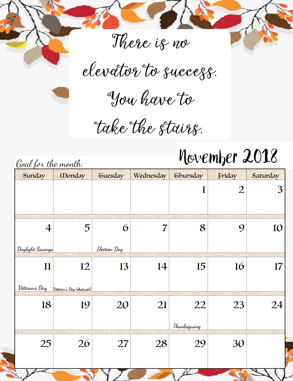 Free Printable 2018 Monthly Motivational Calendars | Work | Calendar C Program To Print Calendar Of Month July