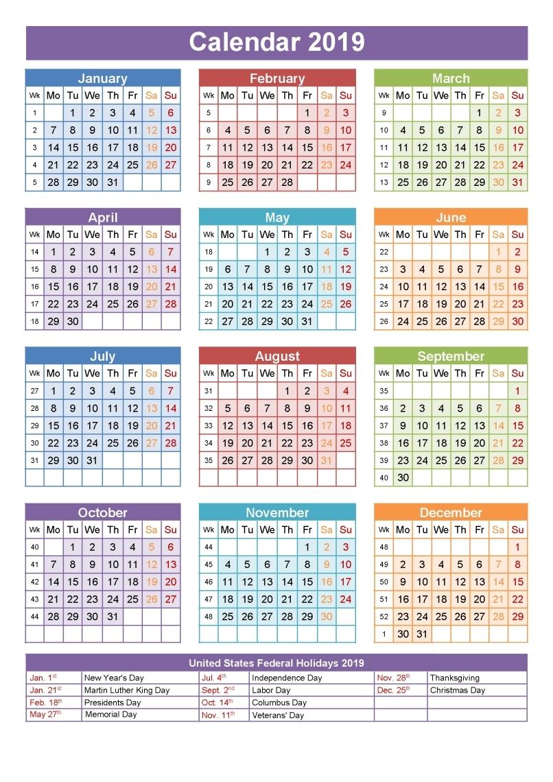 Free Printable 3 Month Calendar 2019 • Printable Blank Calendar Template 3 Month Calendar With Holidays
