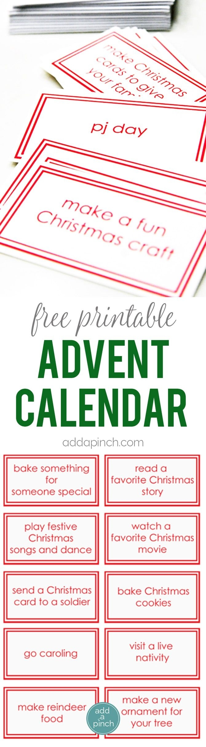 Free Printable Advent Calendar Cards - This Children's Advent Advent Calendar Quiz Template