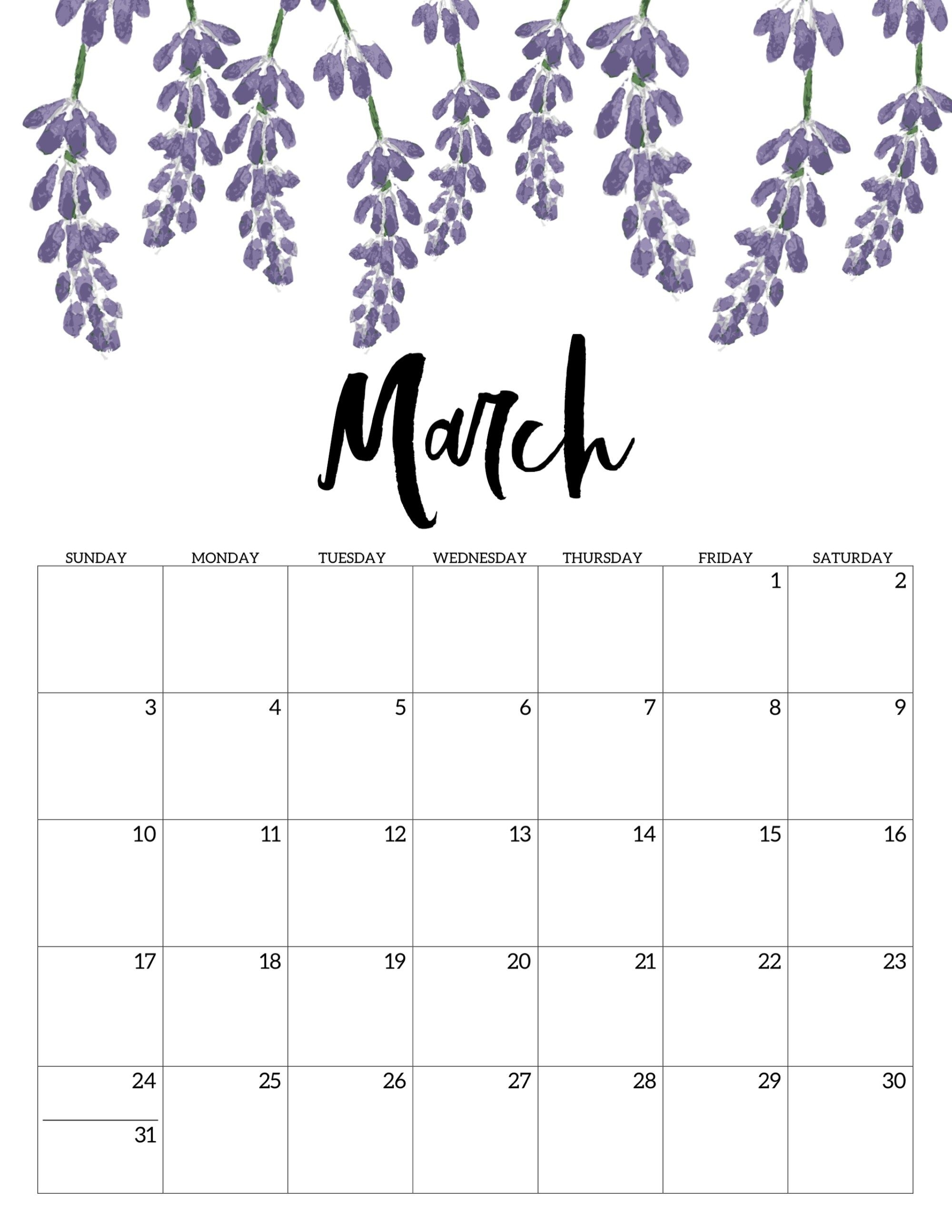 Free Printable Calendar 2019 - Floral | Study | Calendar, 2019 C Program To Print Calendar Of Month July