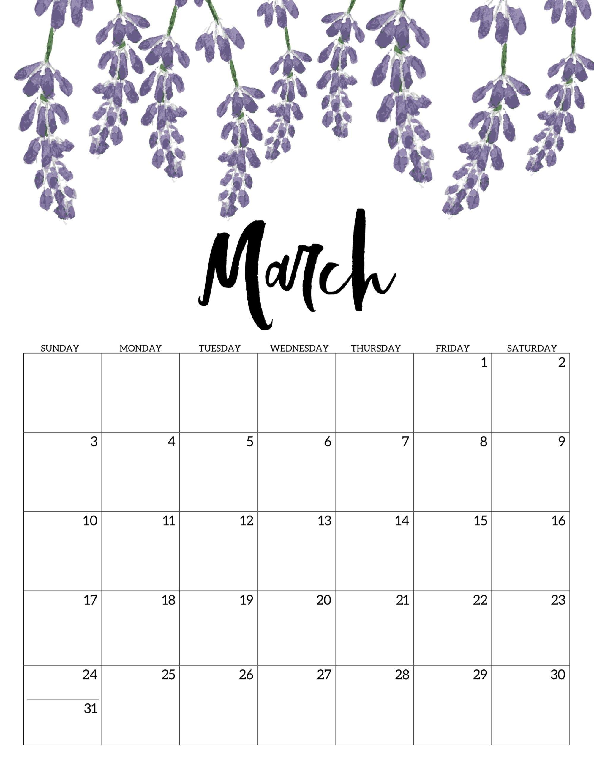 Free Printable Calendar 2019 - Floral | Study | Calendar, 2019 Print Blank Calendar Office 365