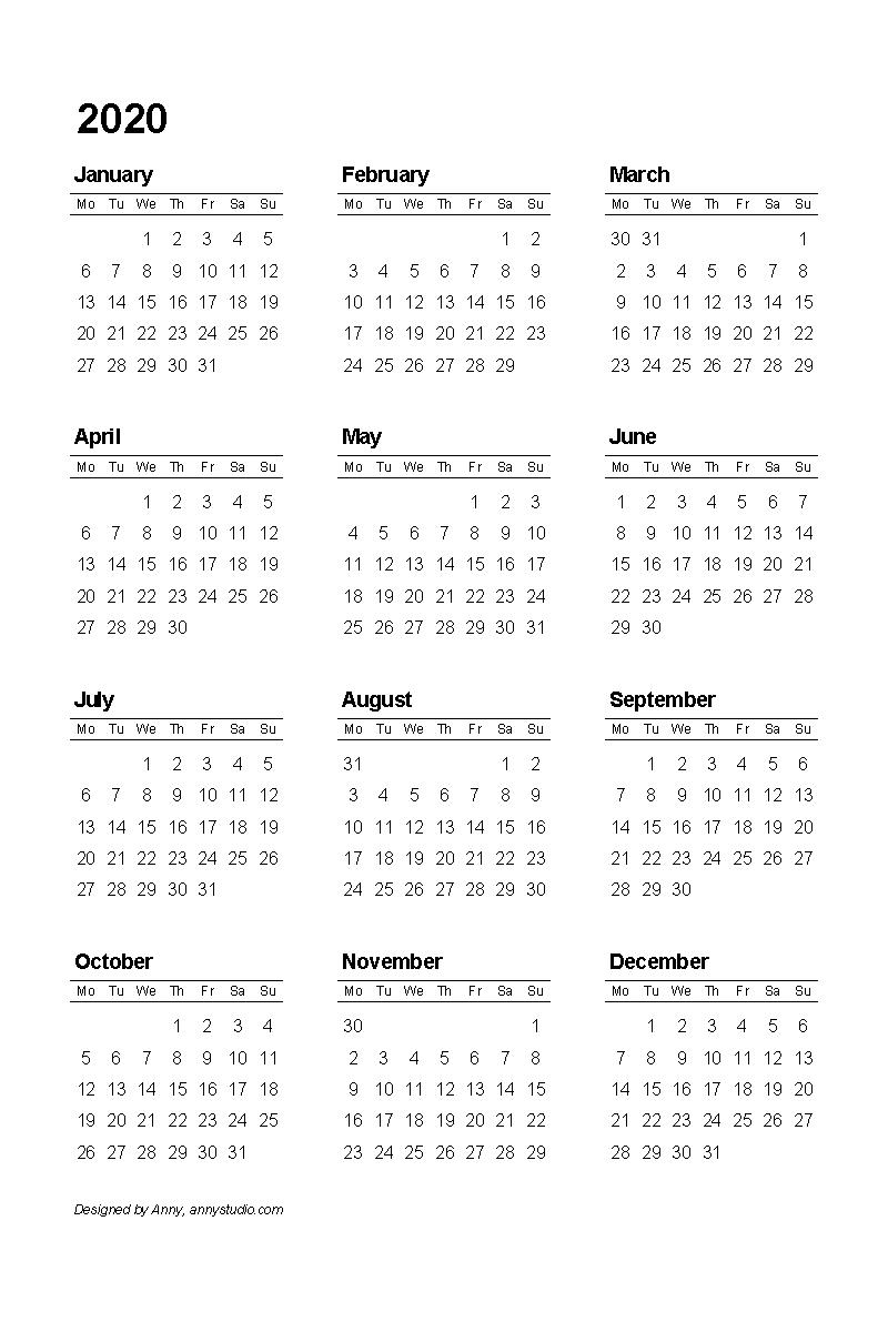 Free Printable Calendars And Planners 2019, 2020, 2021 Impressive 2020 Calendar Uk With Week Numbers