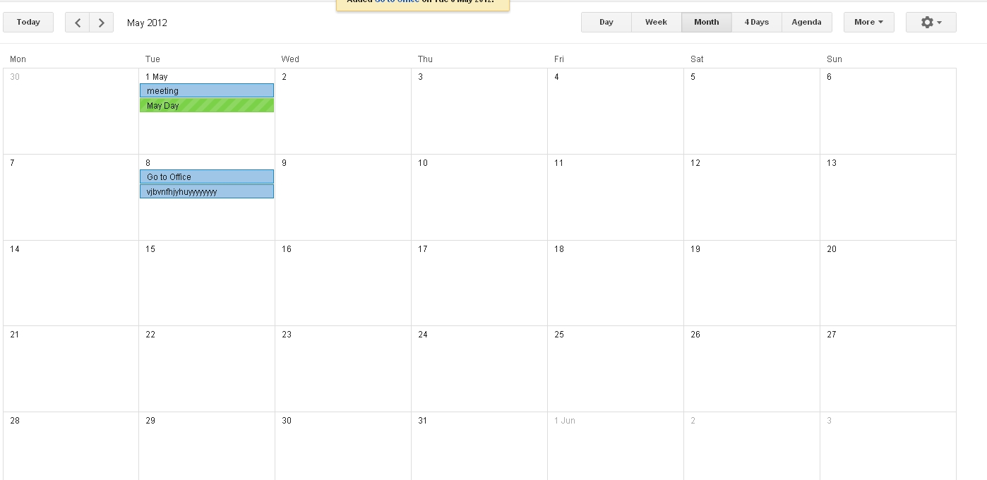 How To Make Month View Calendar Like Google Calendar? - Stack Overflow Calendar Month To View