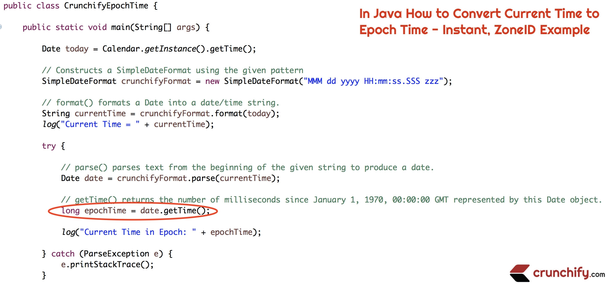 In Java How To Convert Current Time To Epoch Time - Instant, Zoneid Java Calendar Last Week Of Month