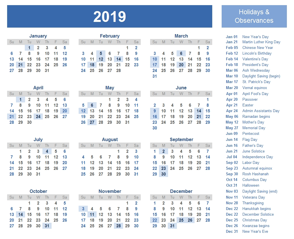 India Holiday 2019 - Calendar Of 2019 India Vacations Calendar 1995 Holidays India