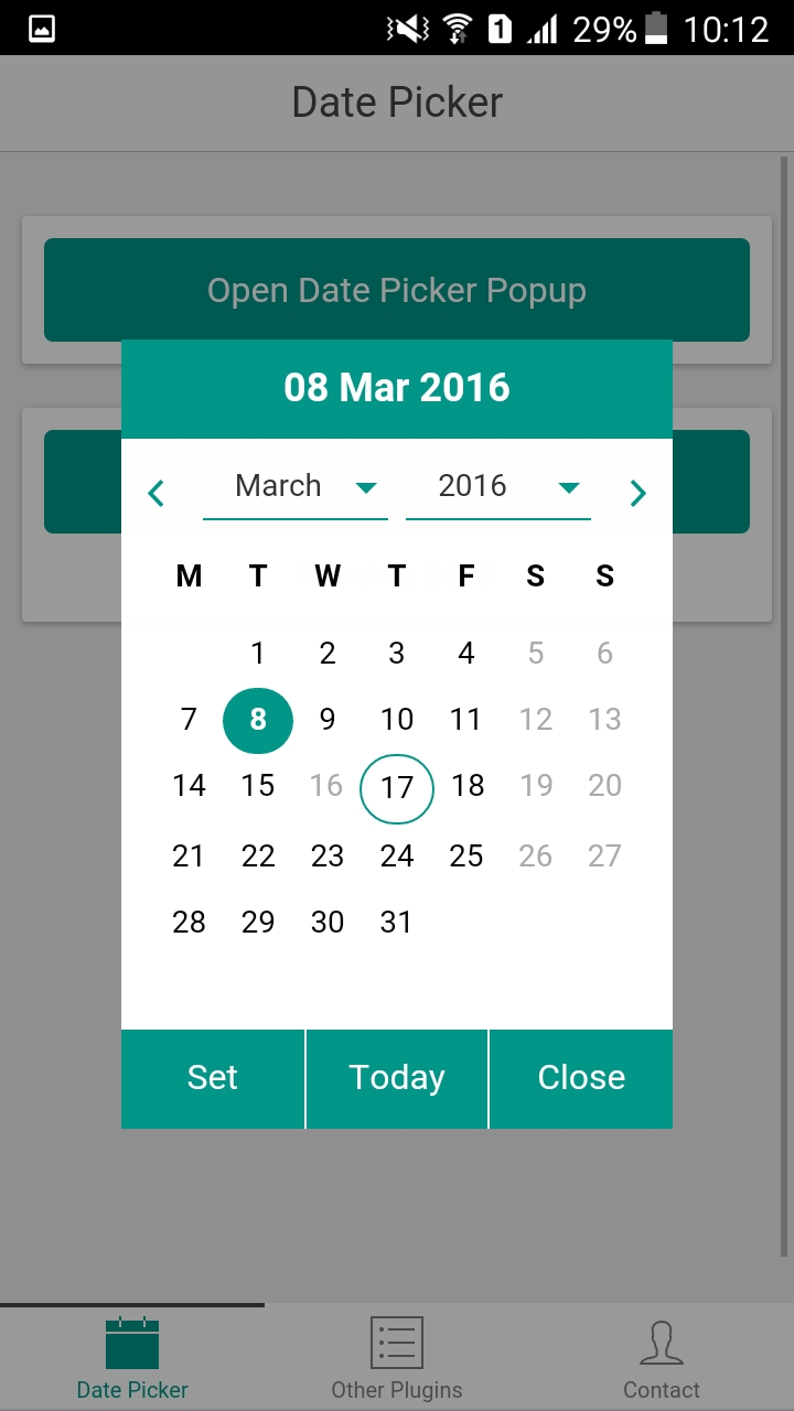 Ionicdatepicker - Ionic Marketplace Ionic 3 Calendar Template