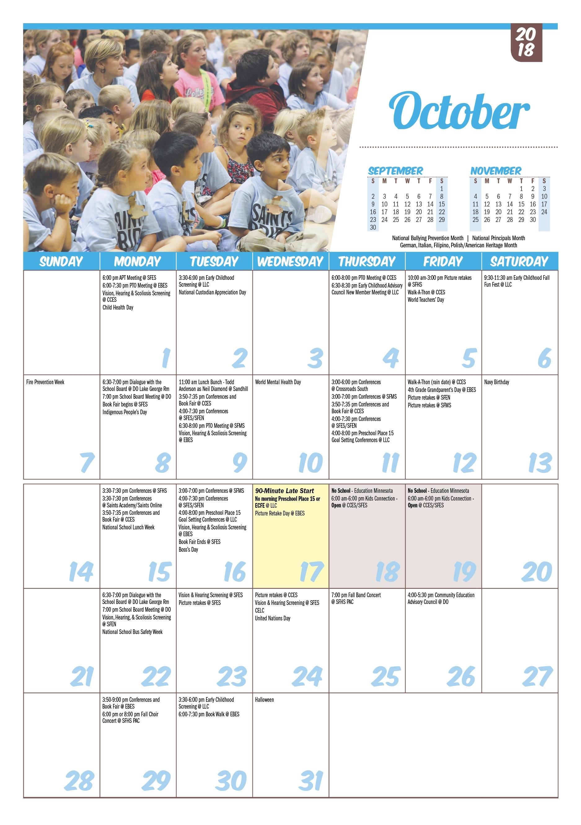 Isd 15, St. Francis: Printable Calendars Anderson 2 School Calendar