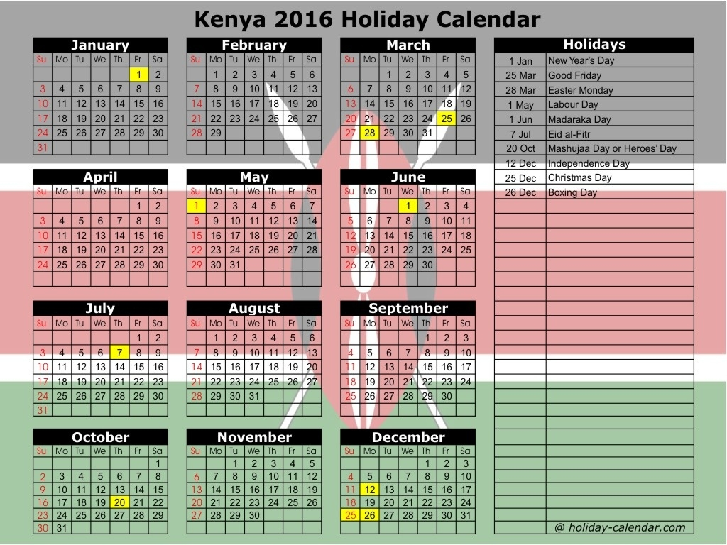 Kenya Dating Sites Calendar Holidays In Kenya