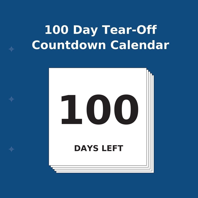 Large Print Bookshop Tear Off Countdown Calendar Uk