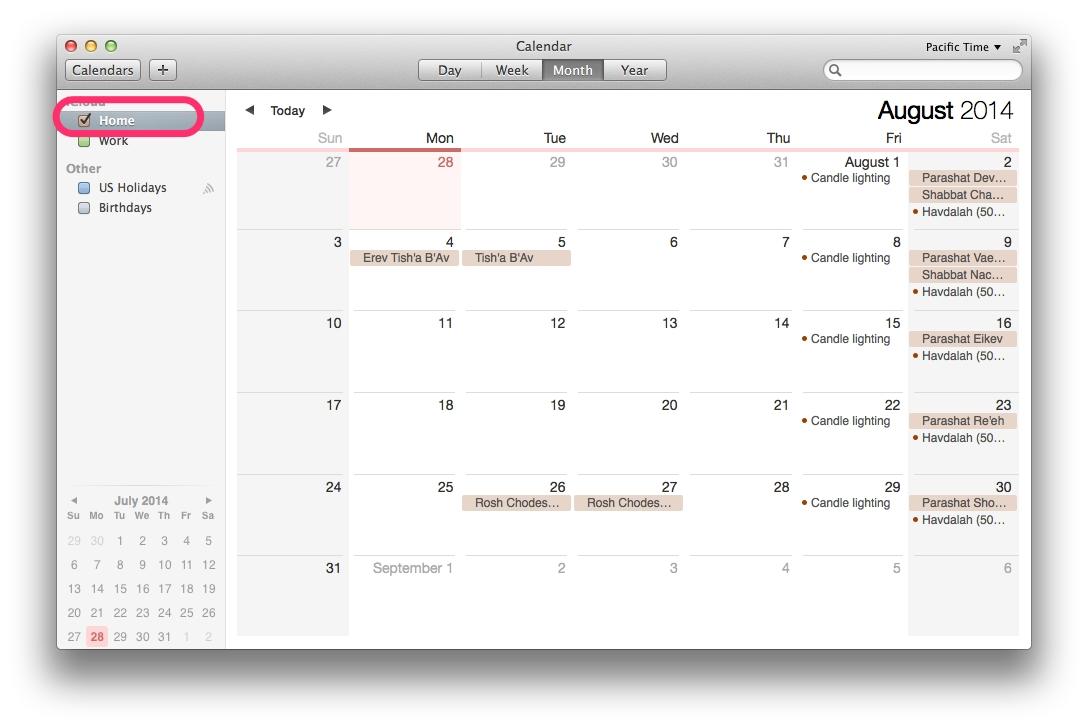 Mac Desktop Or Icloud Calendar – Delete Hebcal Jewish Calendar Apple Calendar Remove Holidays