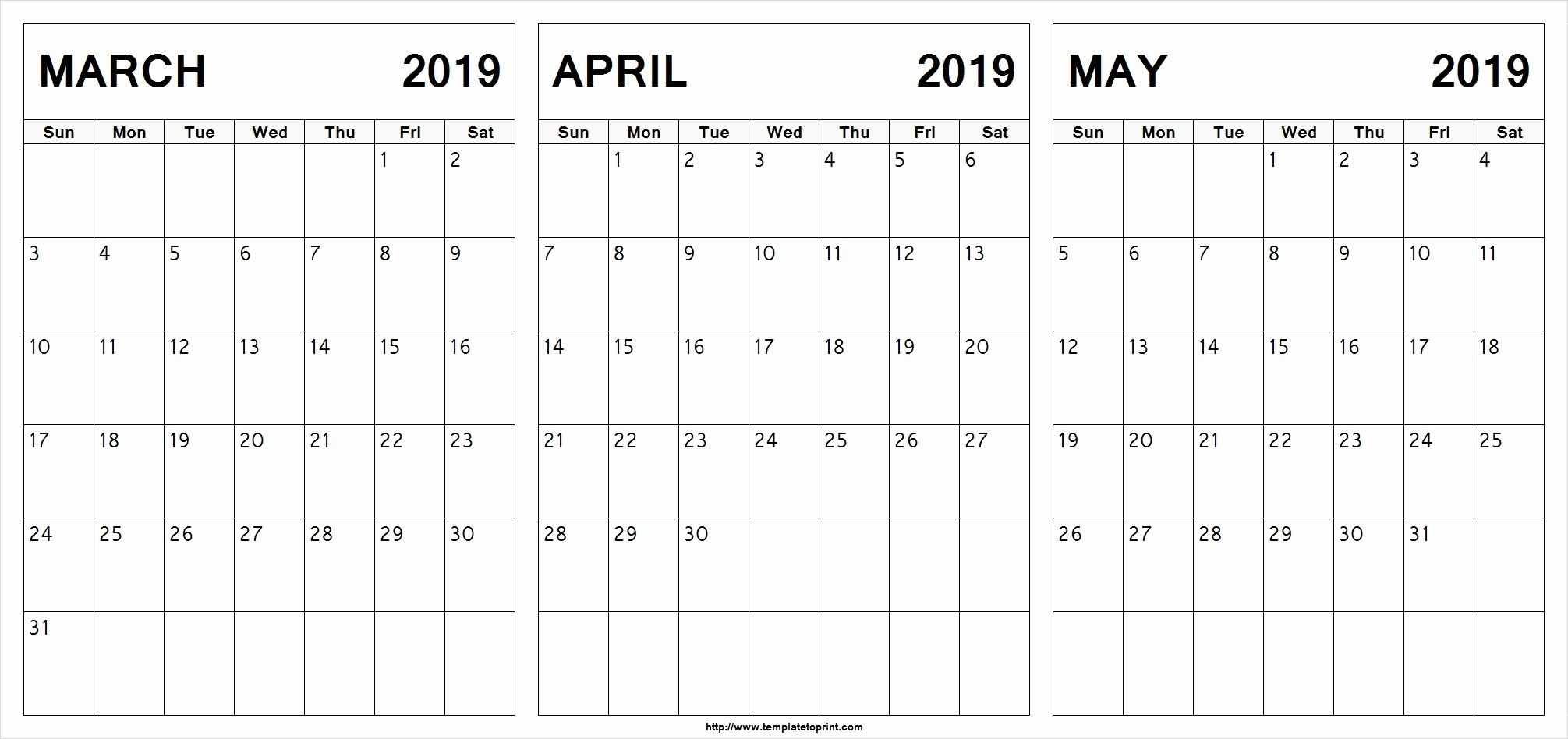 March April May 2019 Calendar Printable #march #april #may 3 Month Calendar With Holidays