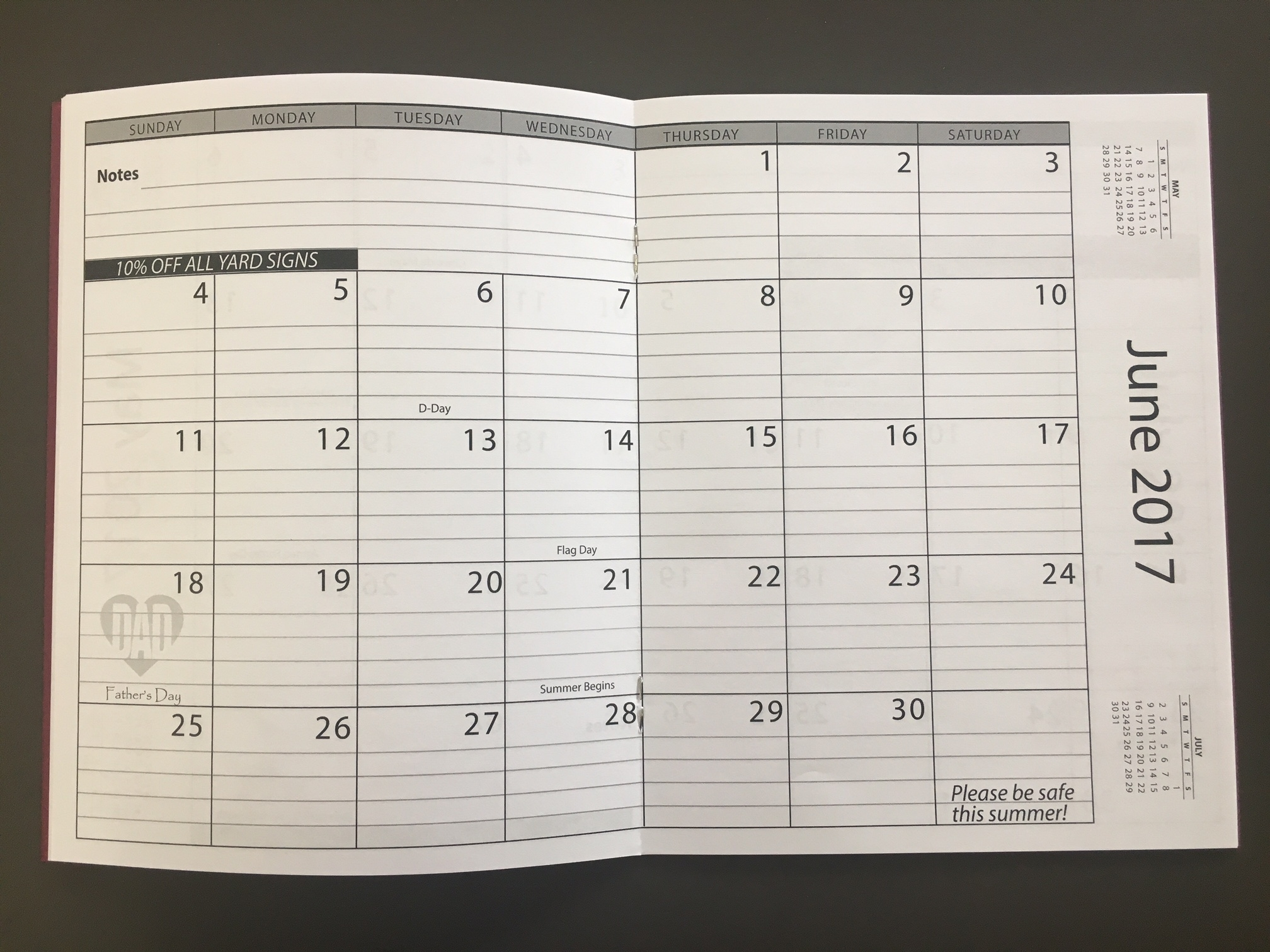 Monthly Planners 8.5 X 14 Calendar Template