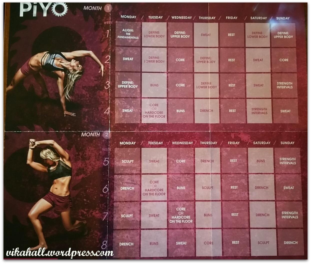 My 60 Days Of Piyo-Fication – The Joy Of Fit Piyo Calendar Month 3