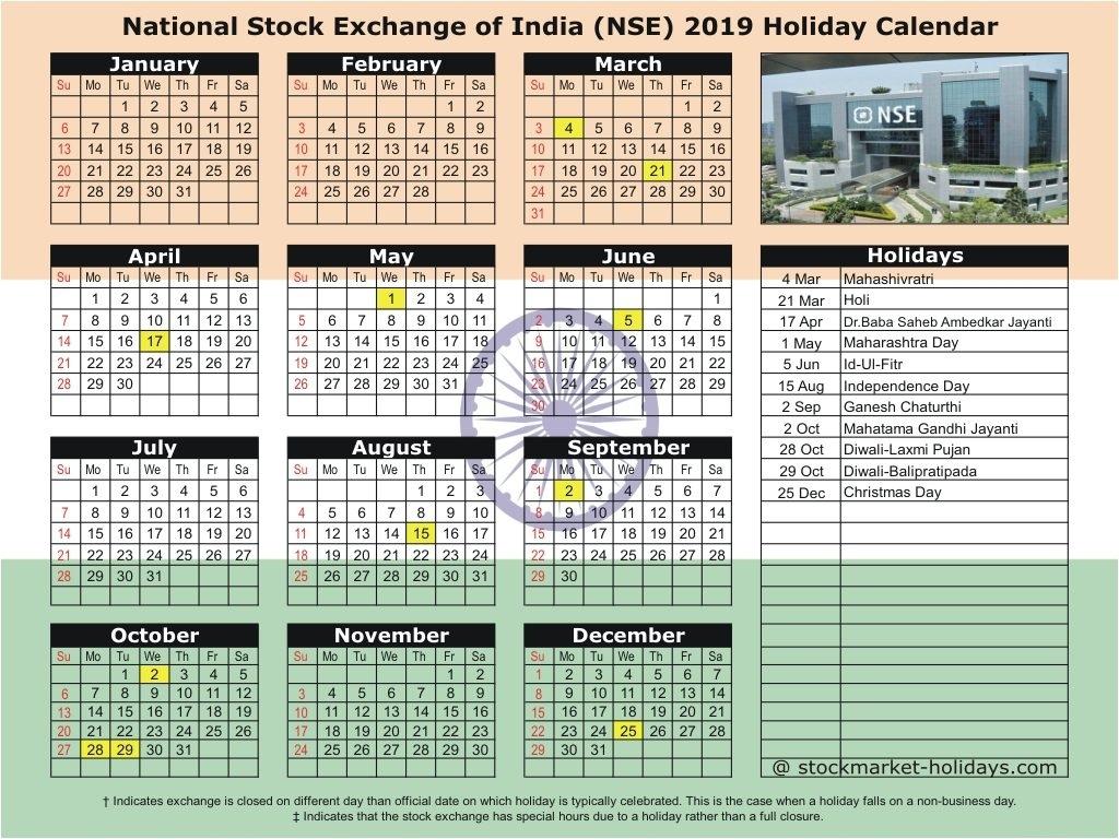 National Stock Exchange Of India 2019 / 2020 Holidays : Nse Holidays 2020 Calendar India Holidays