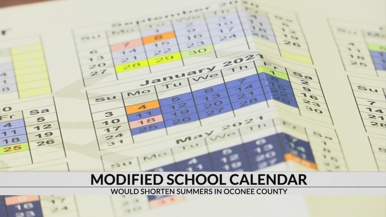 Oconee Co. Schools Propose Modified Calendar Moving Toward Year Impressive School Calendar Buncombe County