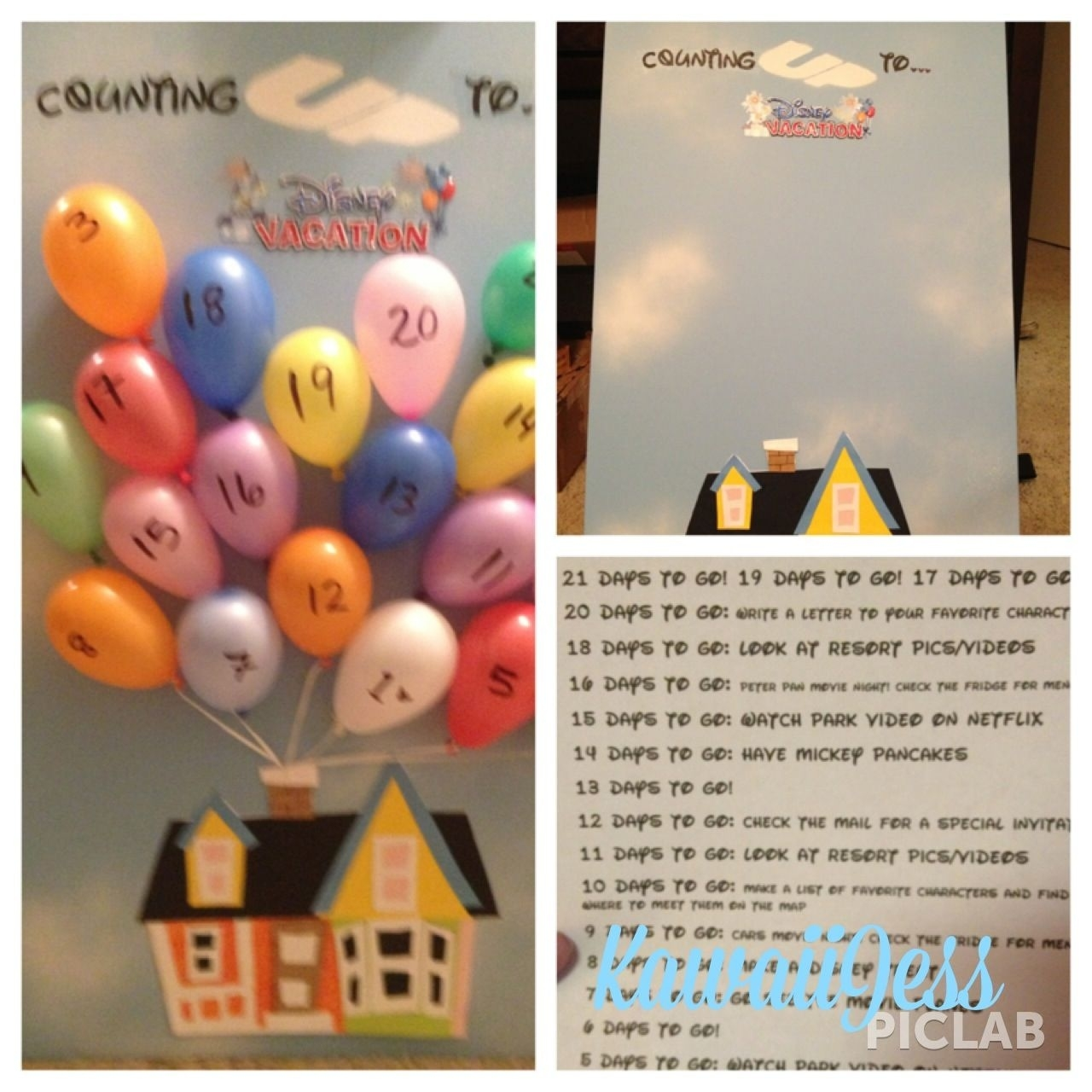 Our Disney Countdown Calendar! I'm Very Proud Of This Since I Haven Disney Countdown Calendar App