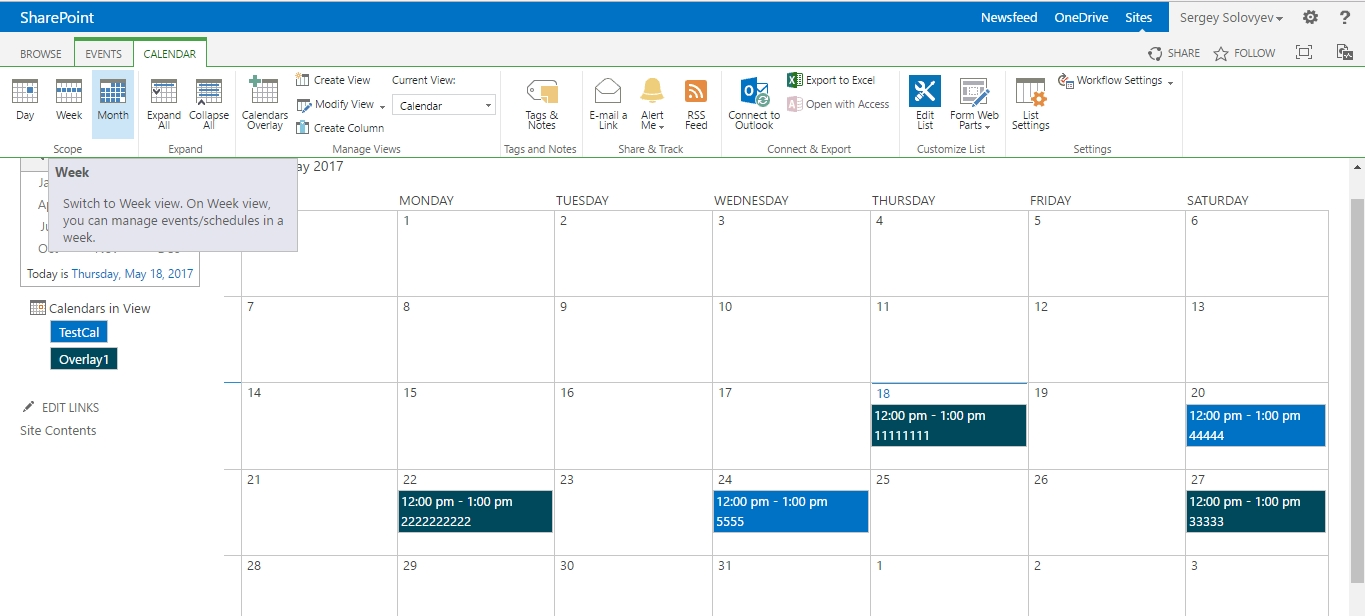 Overlay Calendar Switching Between Weekly And Monthly Views Calendar Month To View