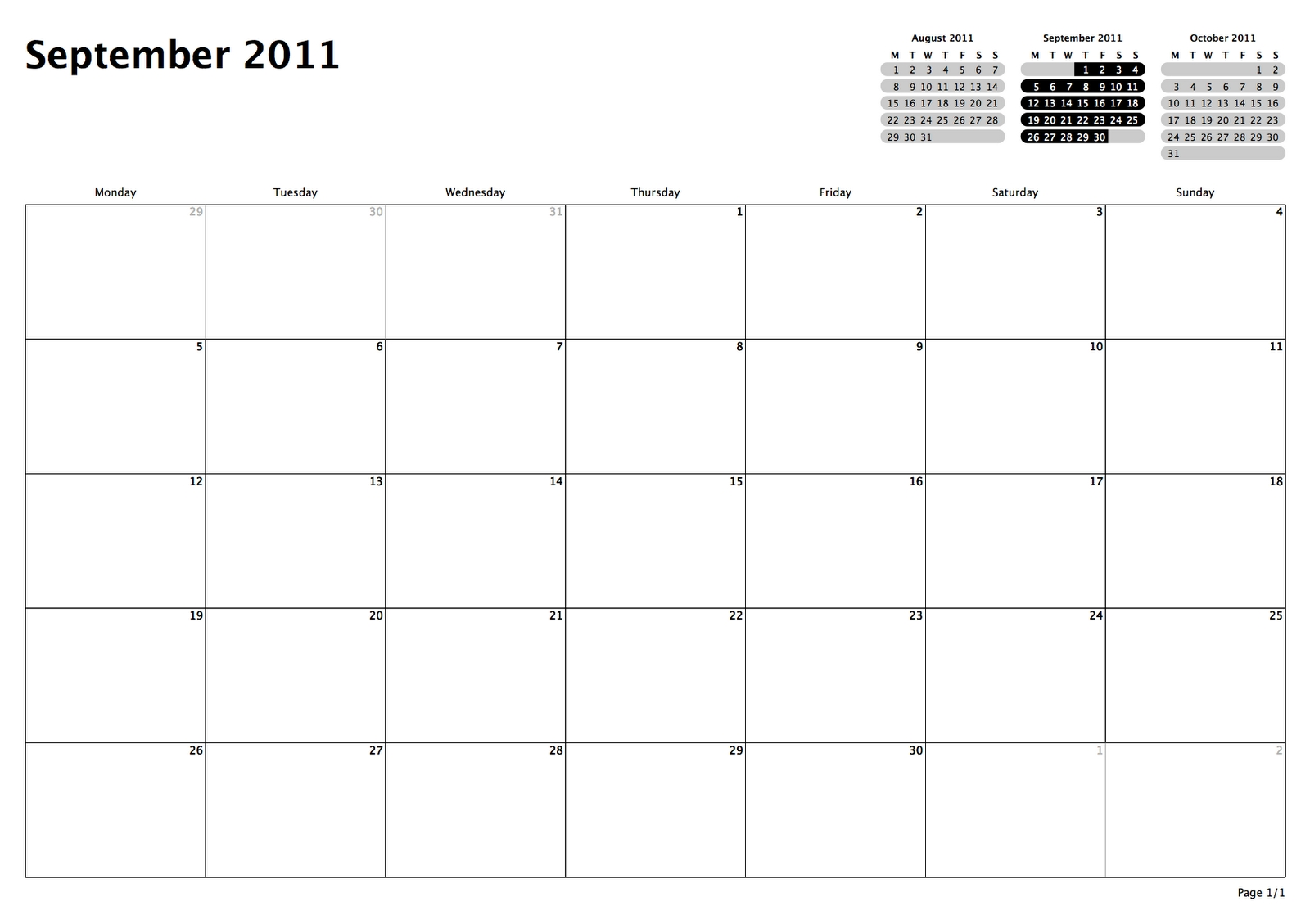Philofaxy: Monthly View Calendars Exceptional Blank Calendar Month View