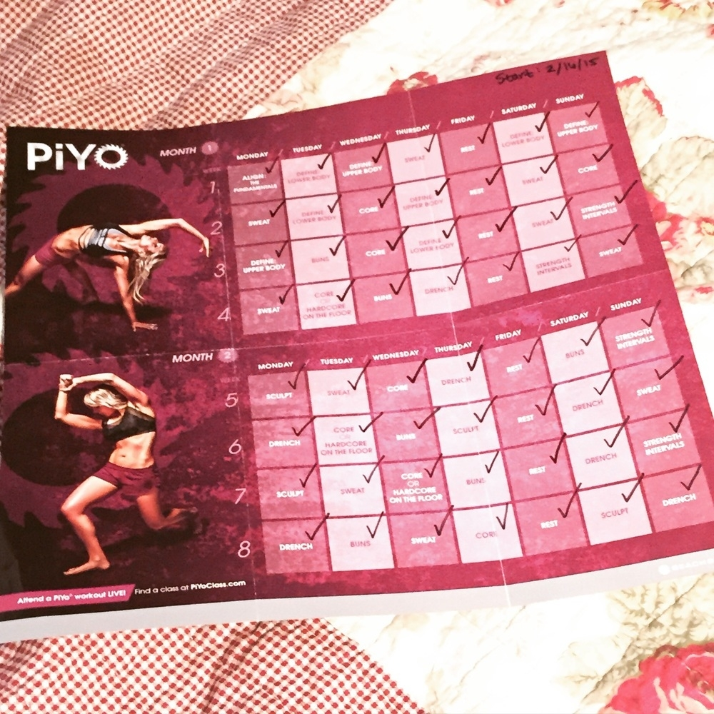 Piyo Review: Sticking To Something Till The End! — Tveen Verano Piyo Calendar Month 3