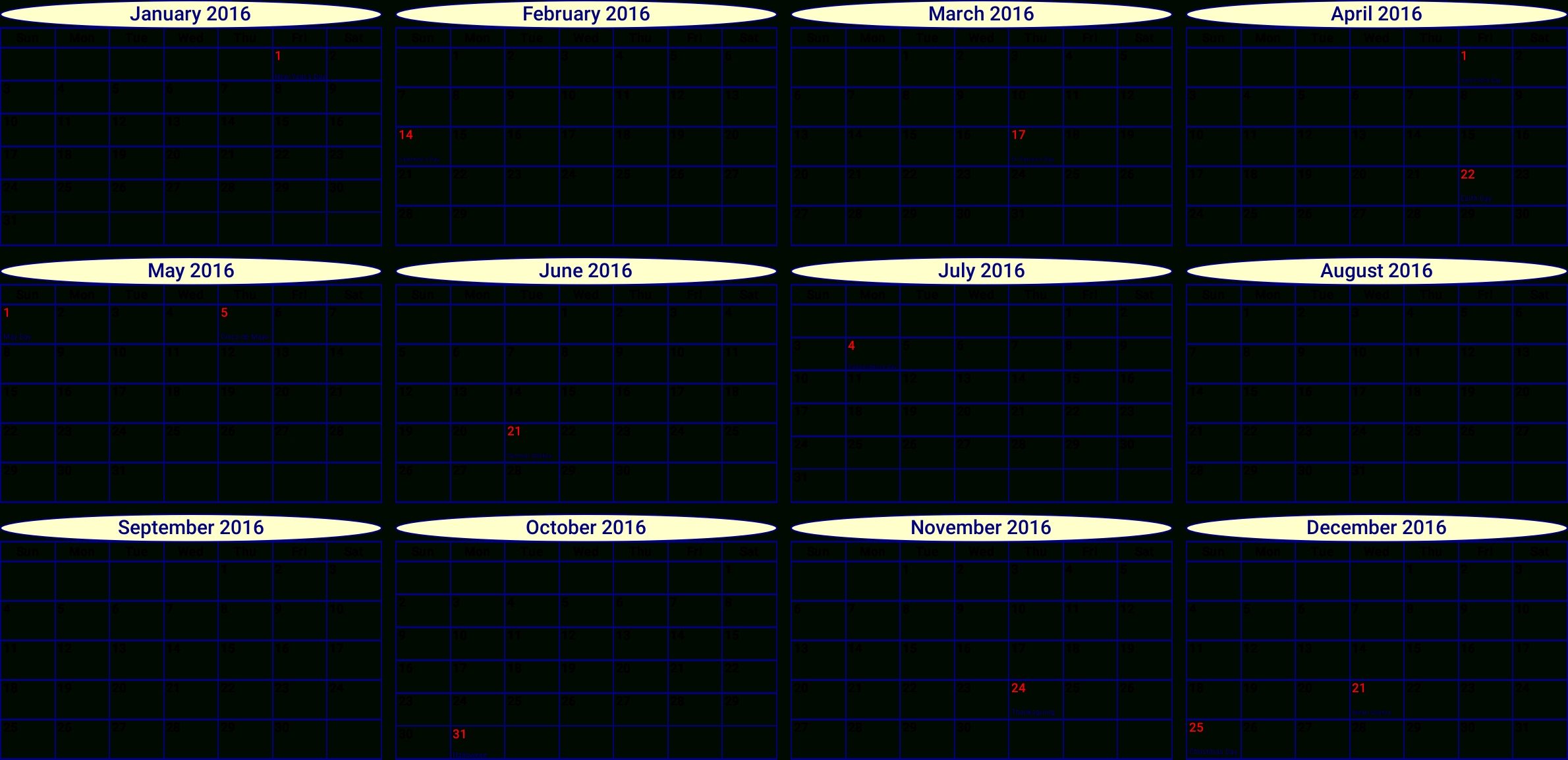 Png Of The Months Of The Year Monthly & Transparent Images #9172 - Pngio Months Of Year Calendar