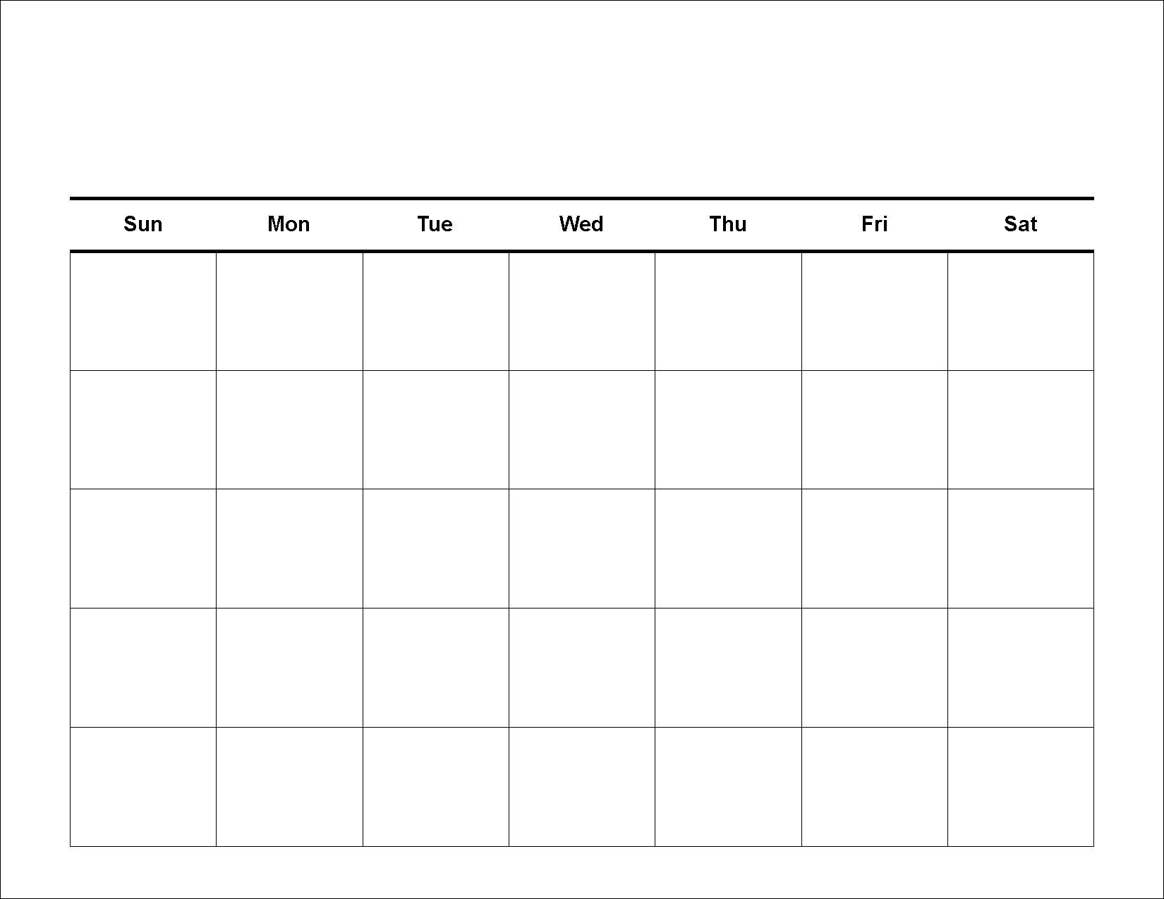 Print Blank Calendar Monthly Archives - Hashtag Bg Is A Calendar Month 4 Weeks