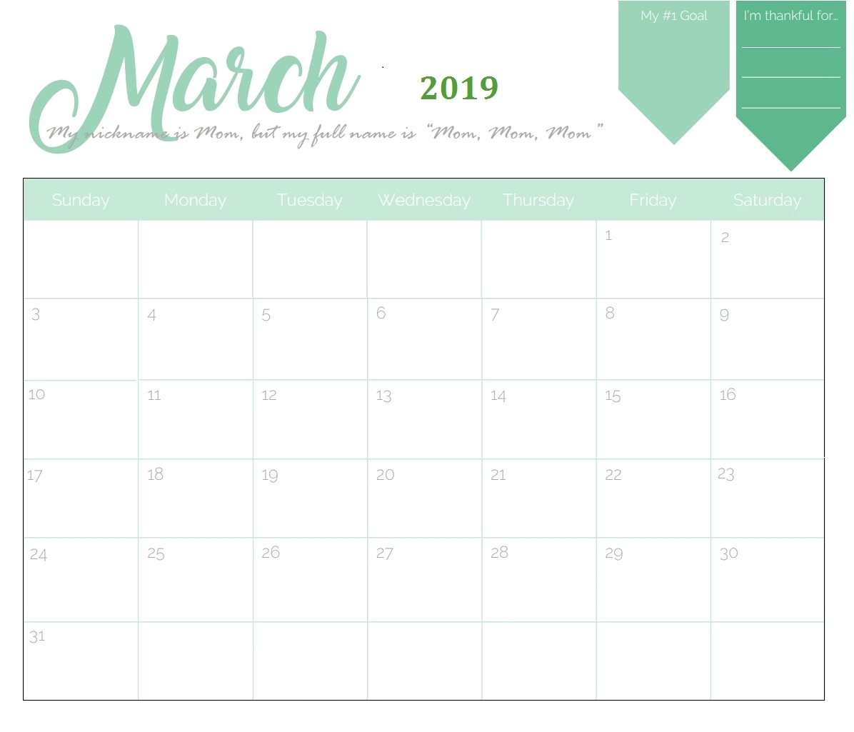 Print Free Monthly Calendar 2019 Free Printable 2019 Monthly Monthly Calendar To Print Free