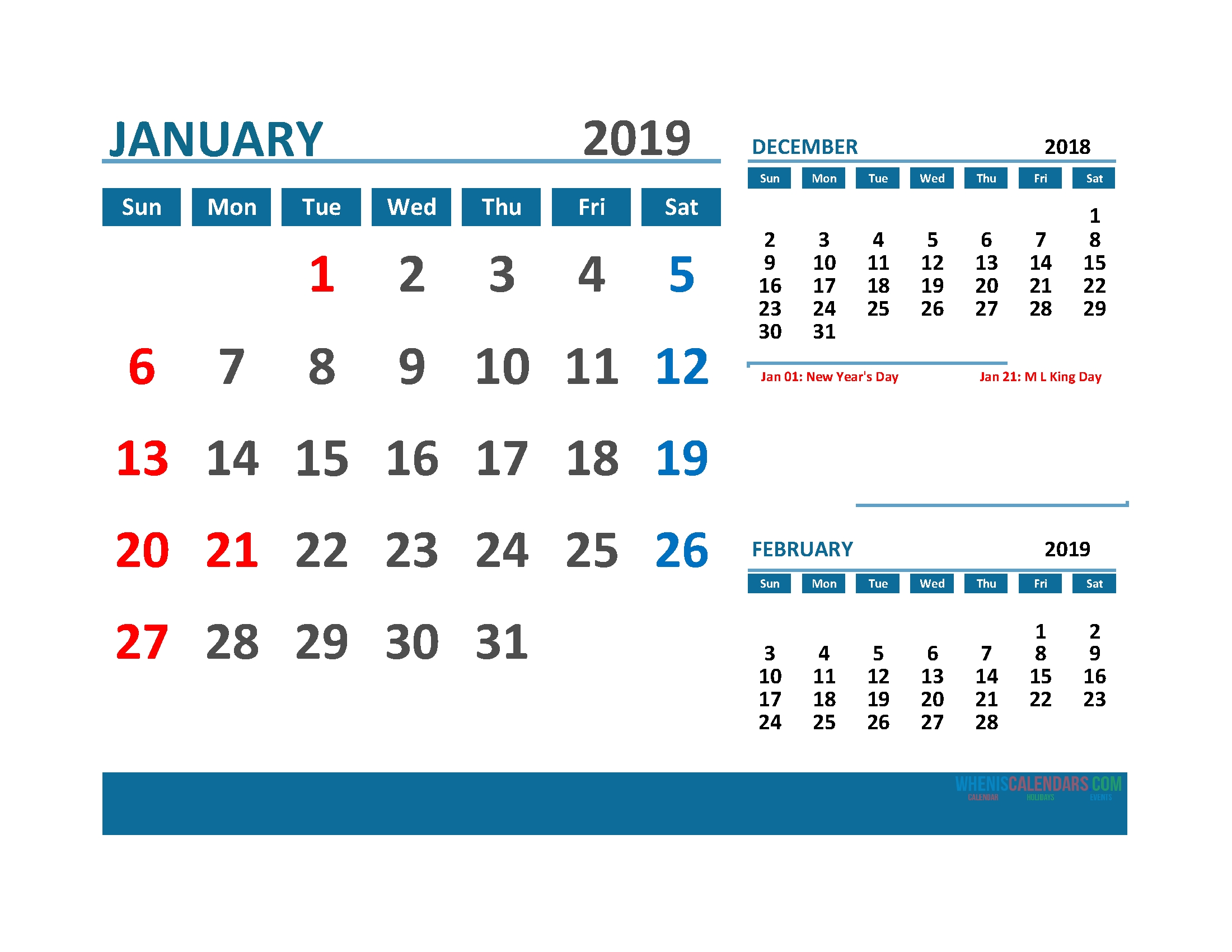Printable 3 Month Calendar 2019 With Holidays [ Quarterly Calendar 3 Month Calendar With Holidays