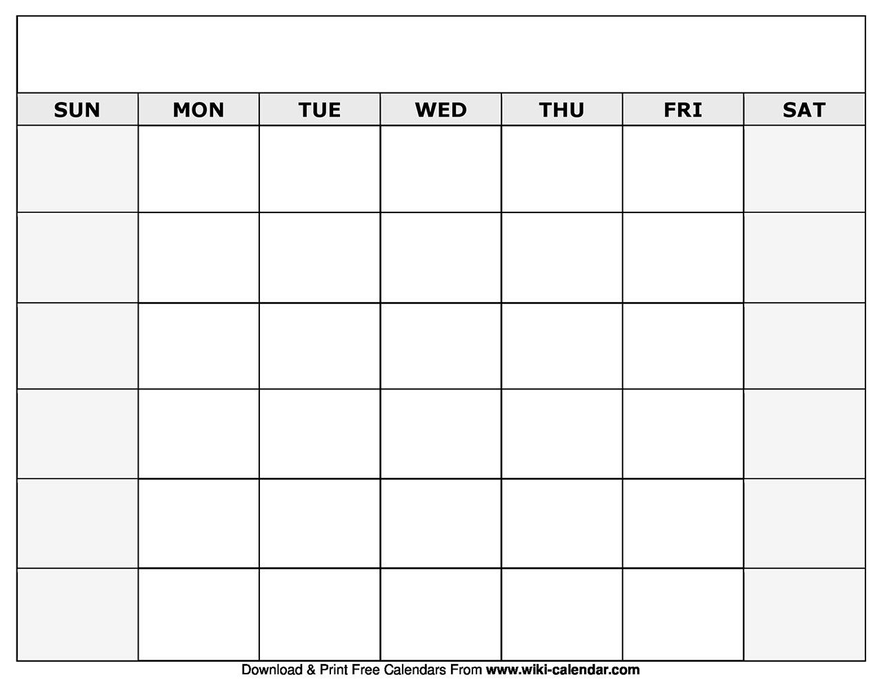Printable Blank Calendar Templates Blank Calendar Template By Month