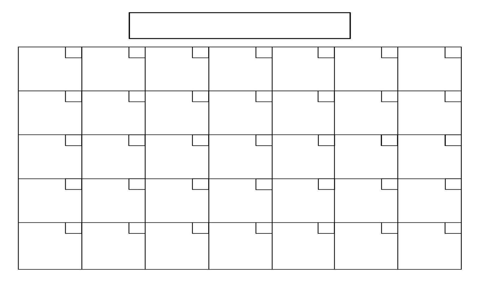 Printable+Full+Page+Blank+Calendar+Template | Boyscout | Blank 8.5 X 14 Calendar Template