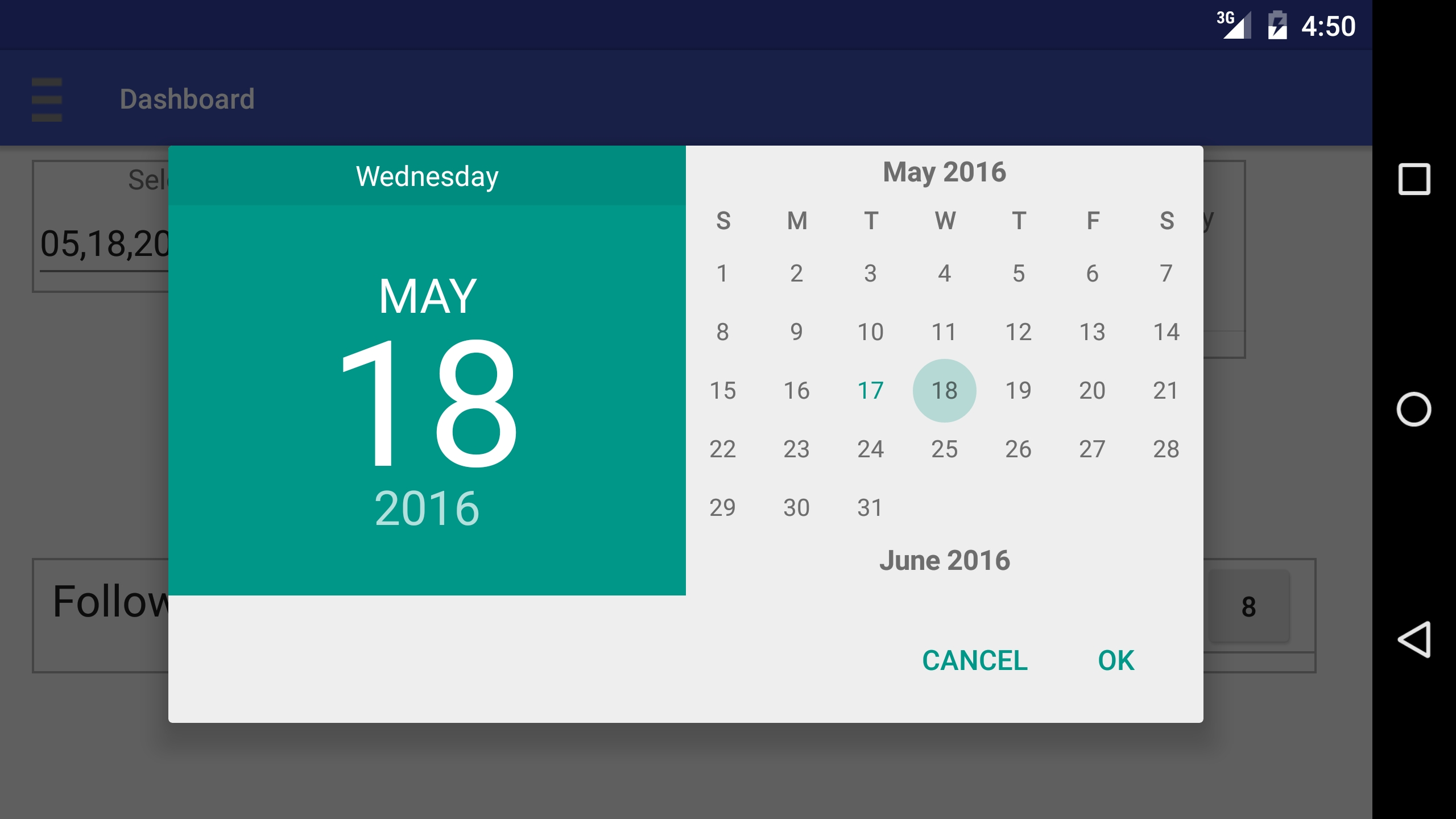 Remove The Extra Day Month And Year On Android Calendar Dialog Java Calendar Last Week Of Month