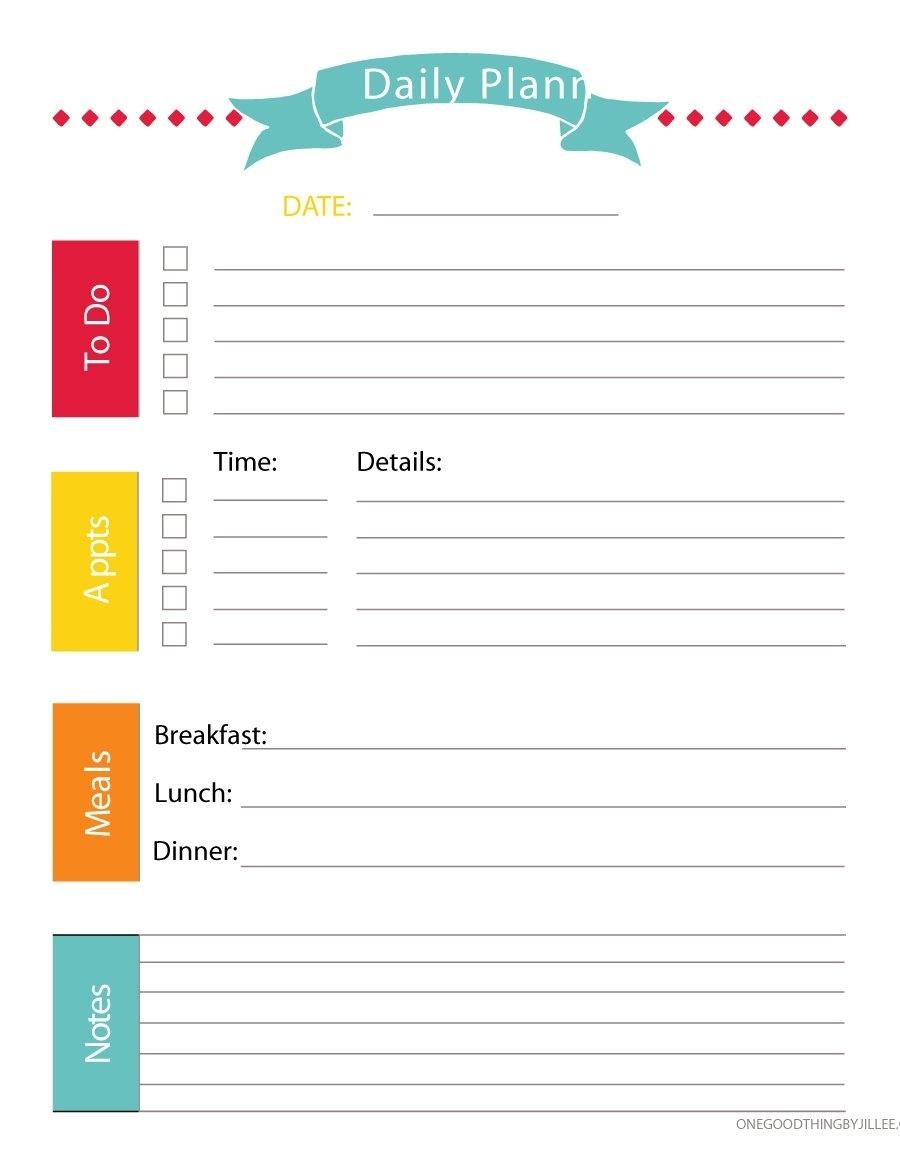 Schedule Template Editable Daily Planner Free Calendar For Calendar Journal Template Kindergarten