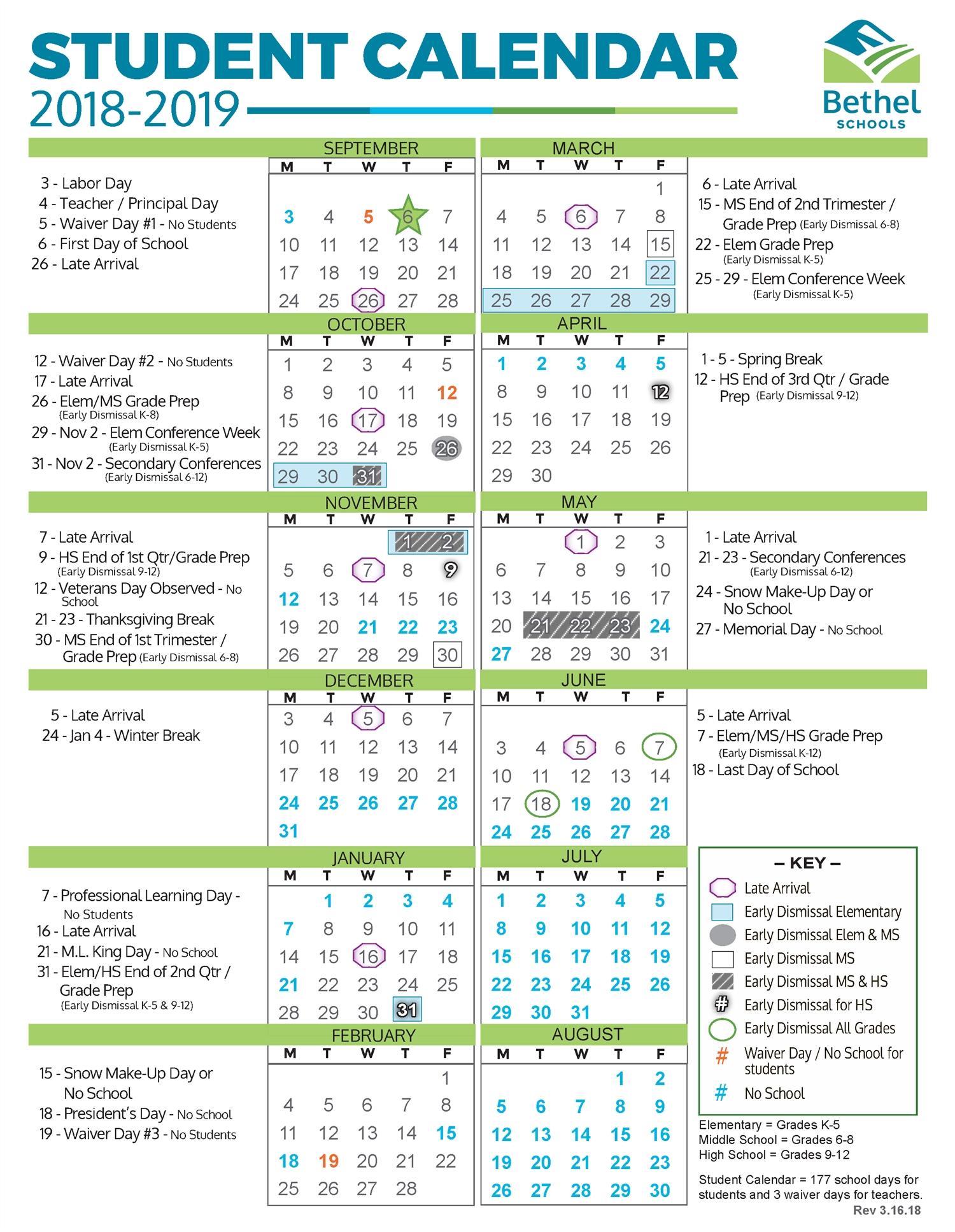 Schedules / Home Challenger 7 School Calendar