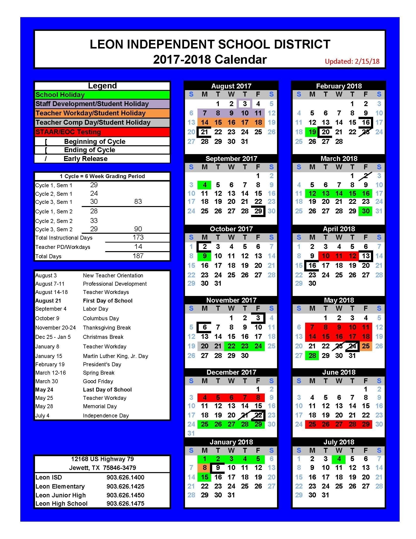 Src 15 Leon County School Calendar - Calendar Exceptional School Calendar Leon County