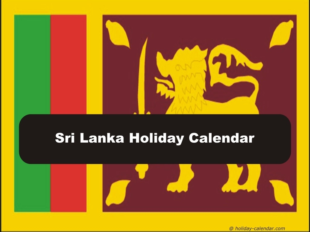 Sri Lanka 2019 / 2020 Holiday Calendar 2020 Calendar Sri Lanka With Holidays