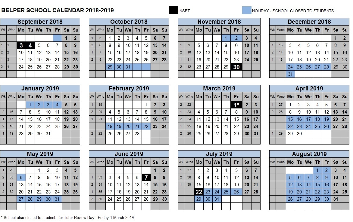 Term Dates – Belper School And Sixth Form Centre May 2020 Calendar Uk