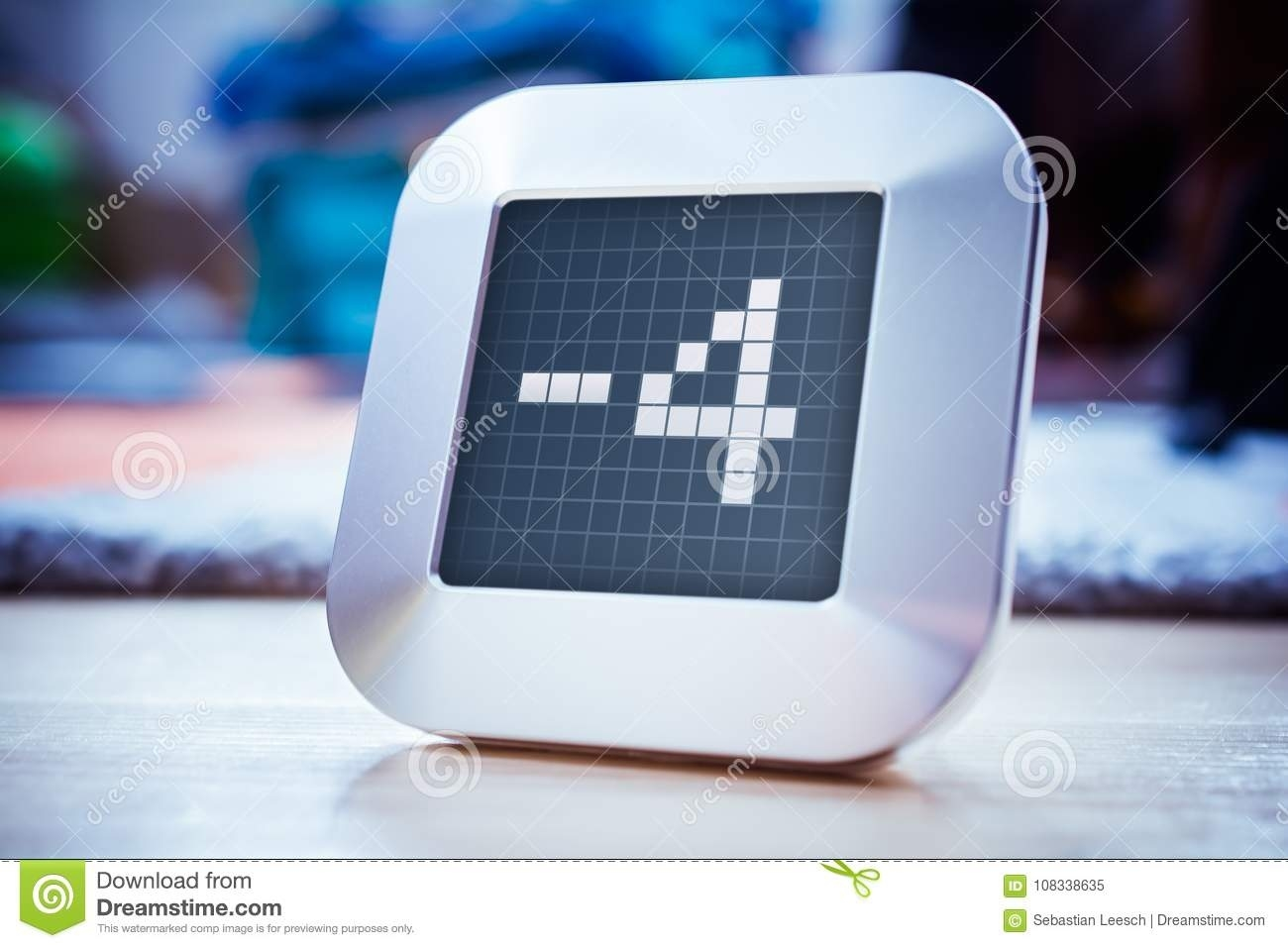 The Number -4 On A Digital Calendar, Thermostat Or Timer Stock Image Calendar And Countdown Chrome