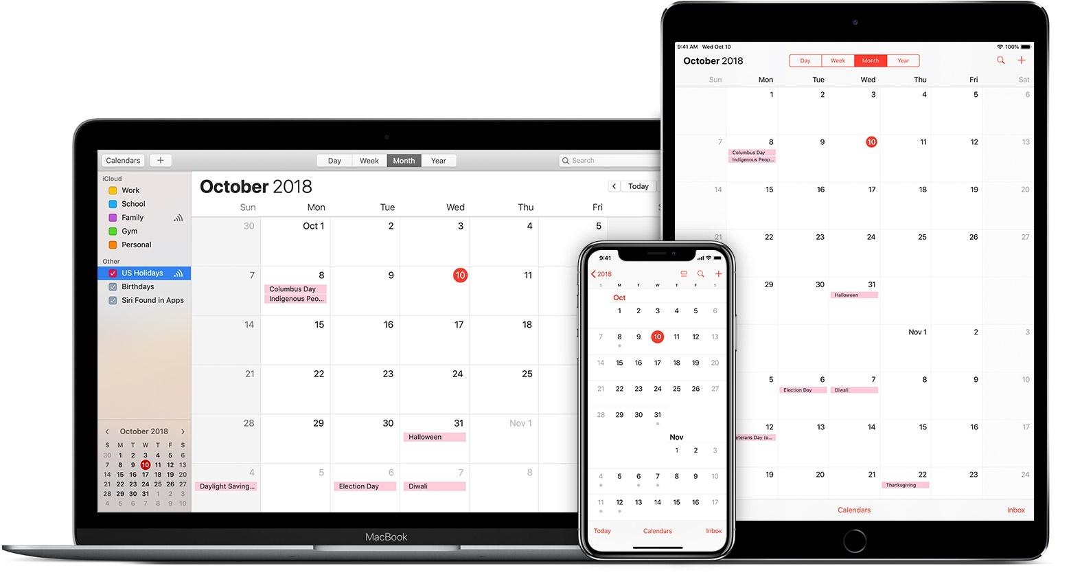 Use Icloud Calendar Subscriptions - Apple Support Apple Calendar Us Holidays