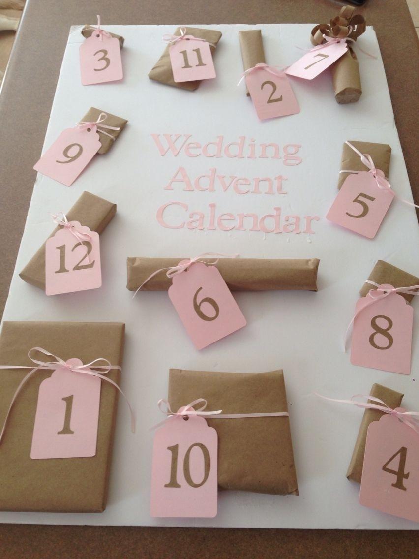 Wedding Advent Calendar. Cute Little Presents For The 12 Days Before Wedding Countdown Calendar Uk