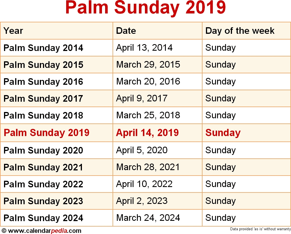 When Is Palm Sunday 2019 & 2020? Dates Of Palm Sunday Dashing 2020 Calendar Sri Lanka