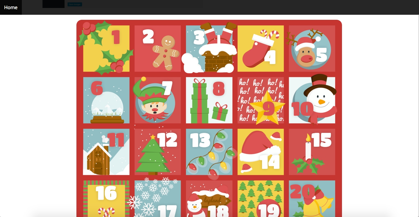 Xmas Advent Calendar - WordPress Plugin By Rssyow | Codecanyon Advent Calendar Quiz Template