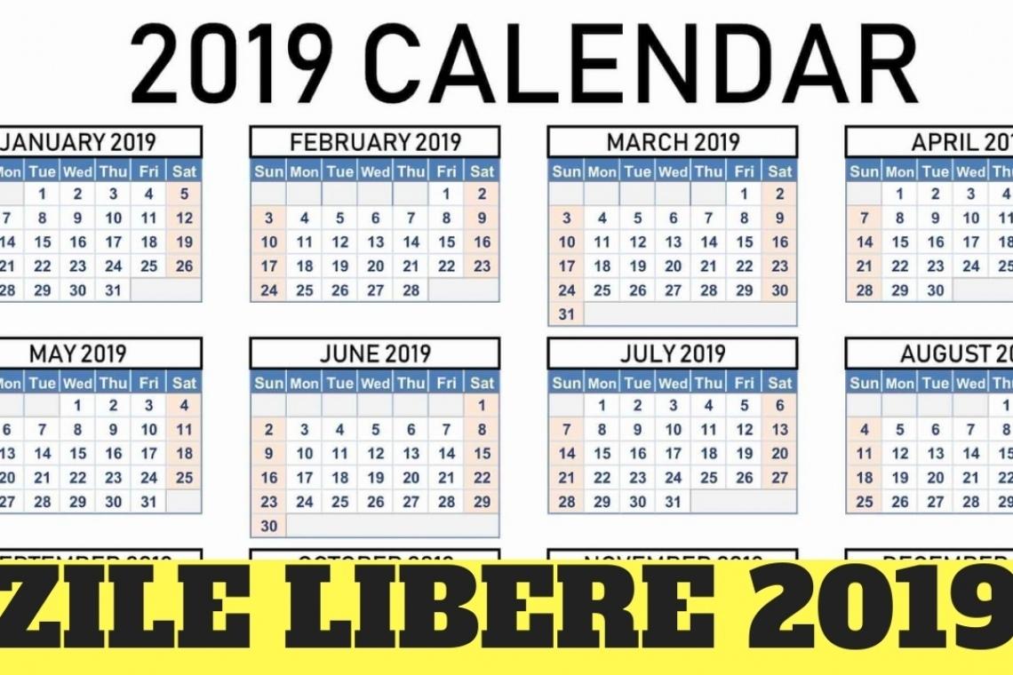 Zile Libere, În 2019 Calendar 2020 Cu Zile Libere