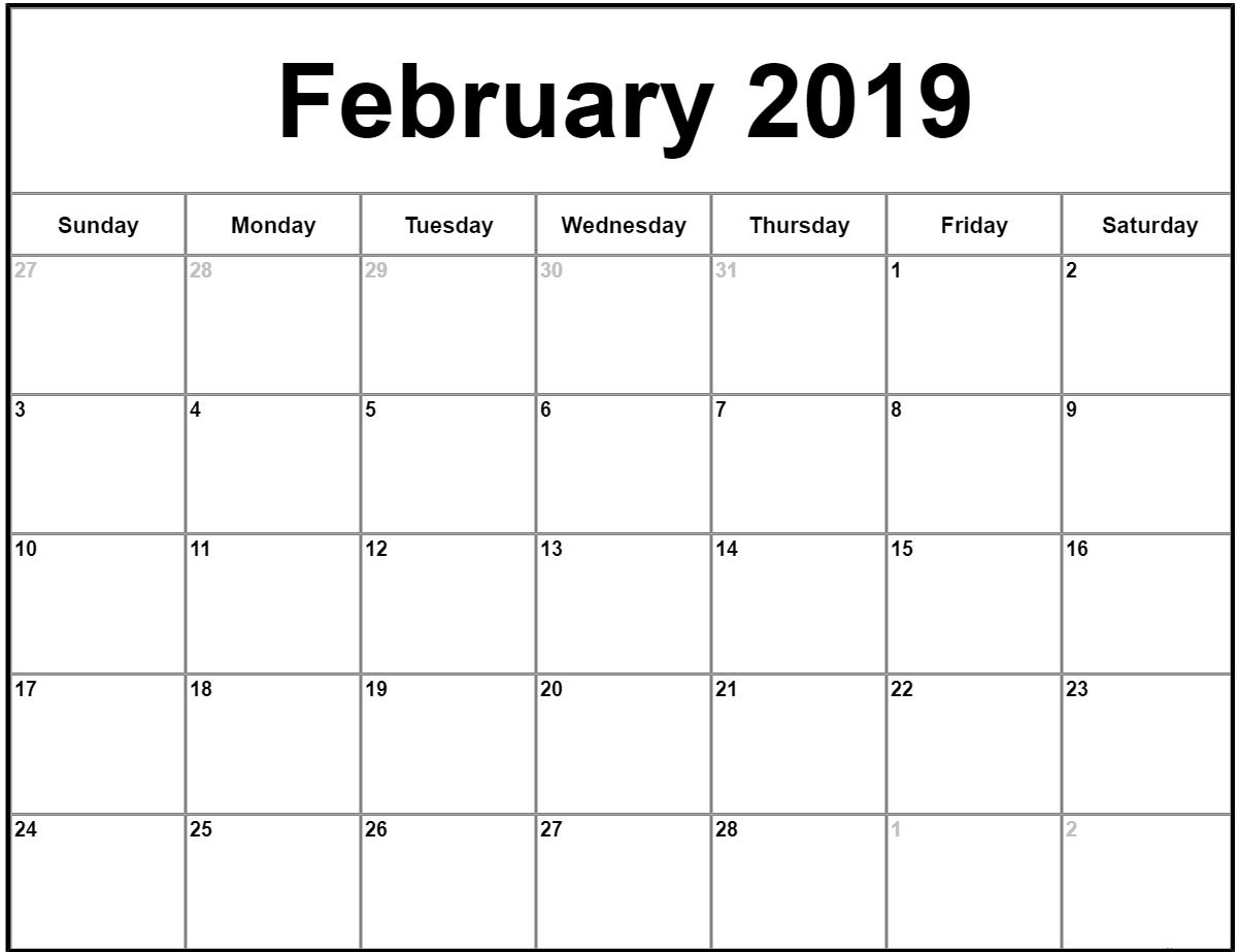 022 Free Printable Calendar Templates February Month Template Free Printable Calendar By Month