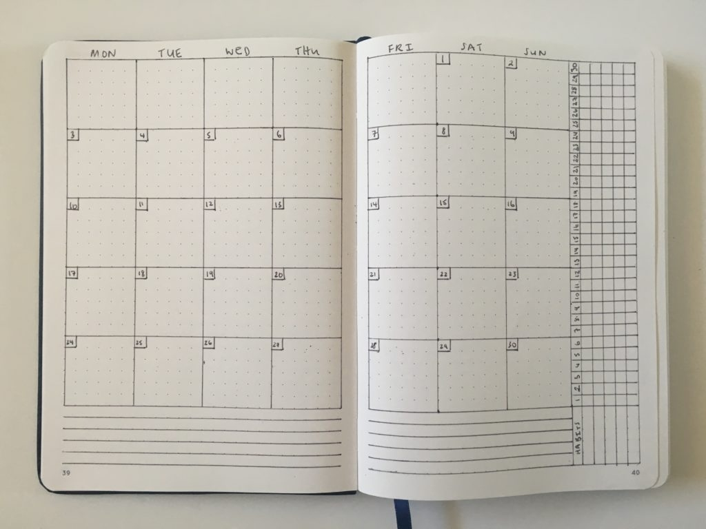 12 Monthly Planning Bullet Journal Spreads (You Can Do In 5 Minutes Monthly Calendar Bullet Journal