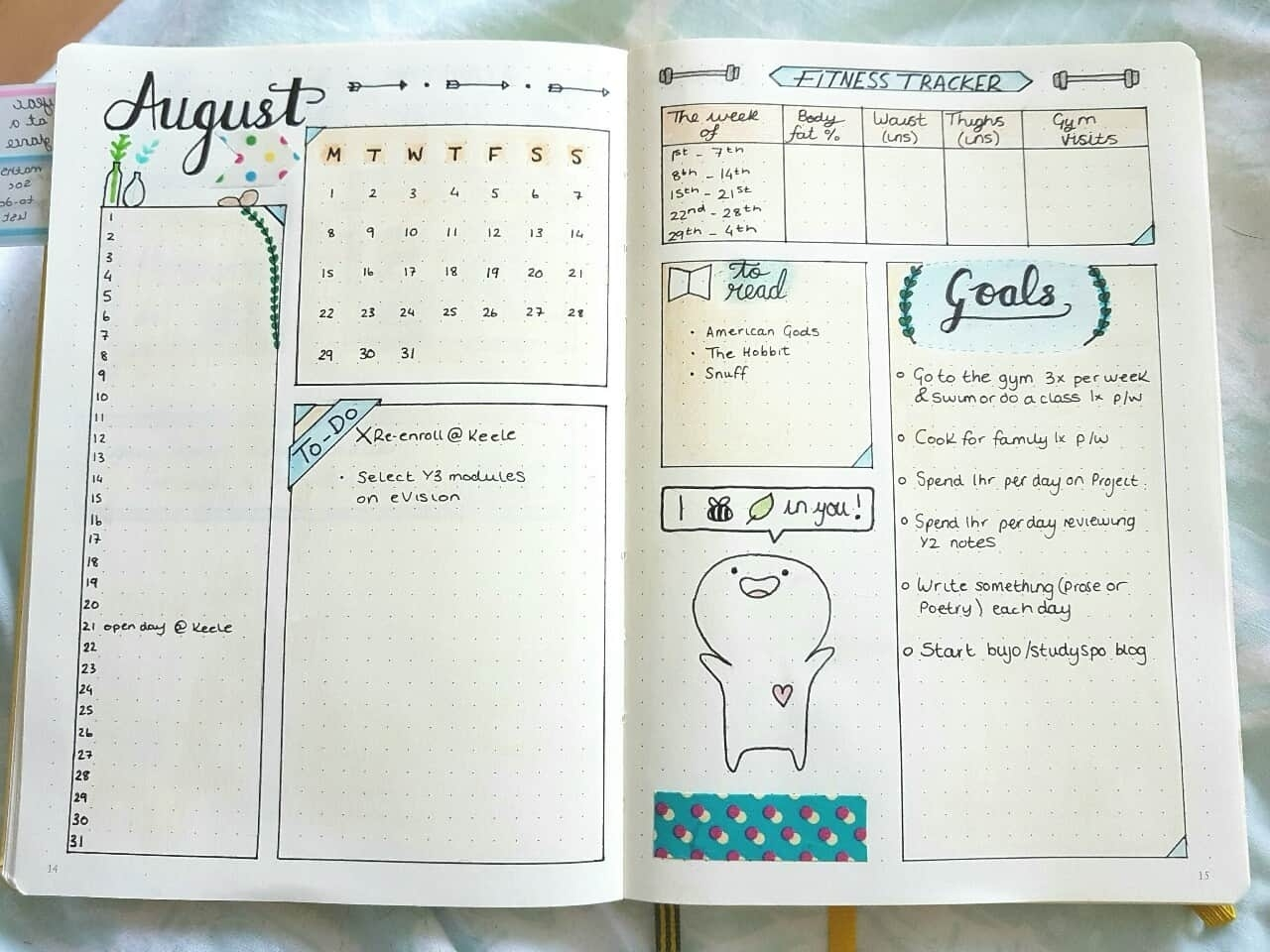 15 Monthly Spreads For Your Bullet Journal - Bullet Journal Addict Monthly Calendar Bullet Journal