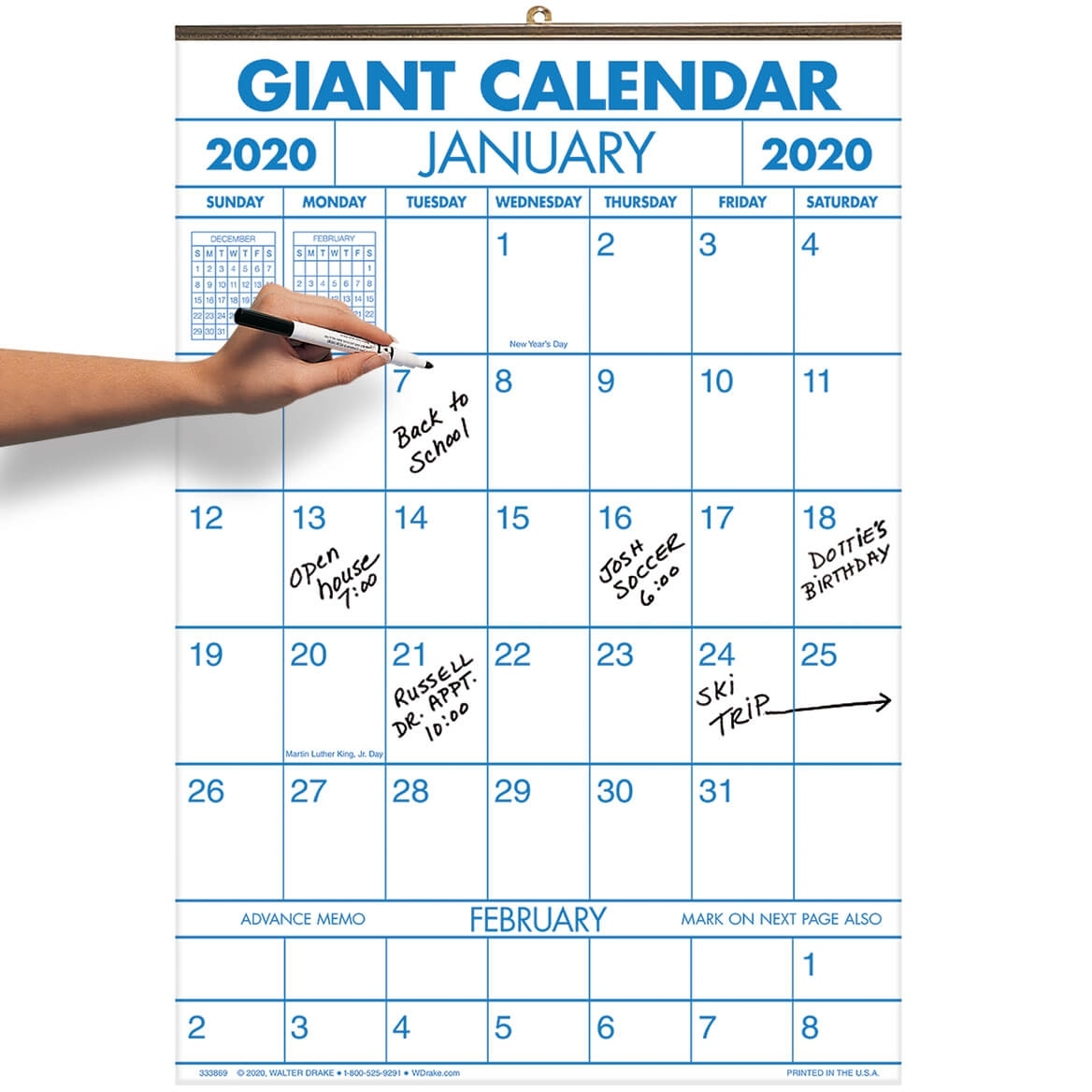 "2-Year Large Calendar – 14 1/4"" X 21 3/4"" Calendar 2020 Calendar For Sale"