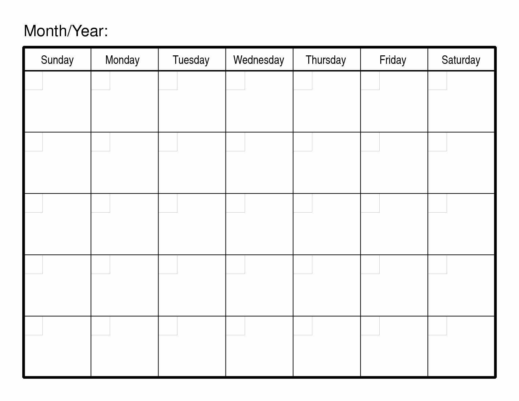 2016 Monthly Calendar Printable Free - Printable Calendar & Birthday Free Printable Calendar By Month