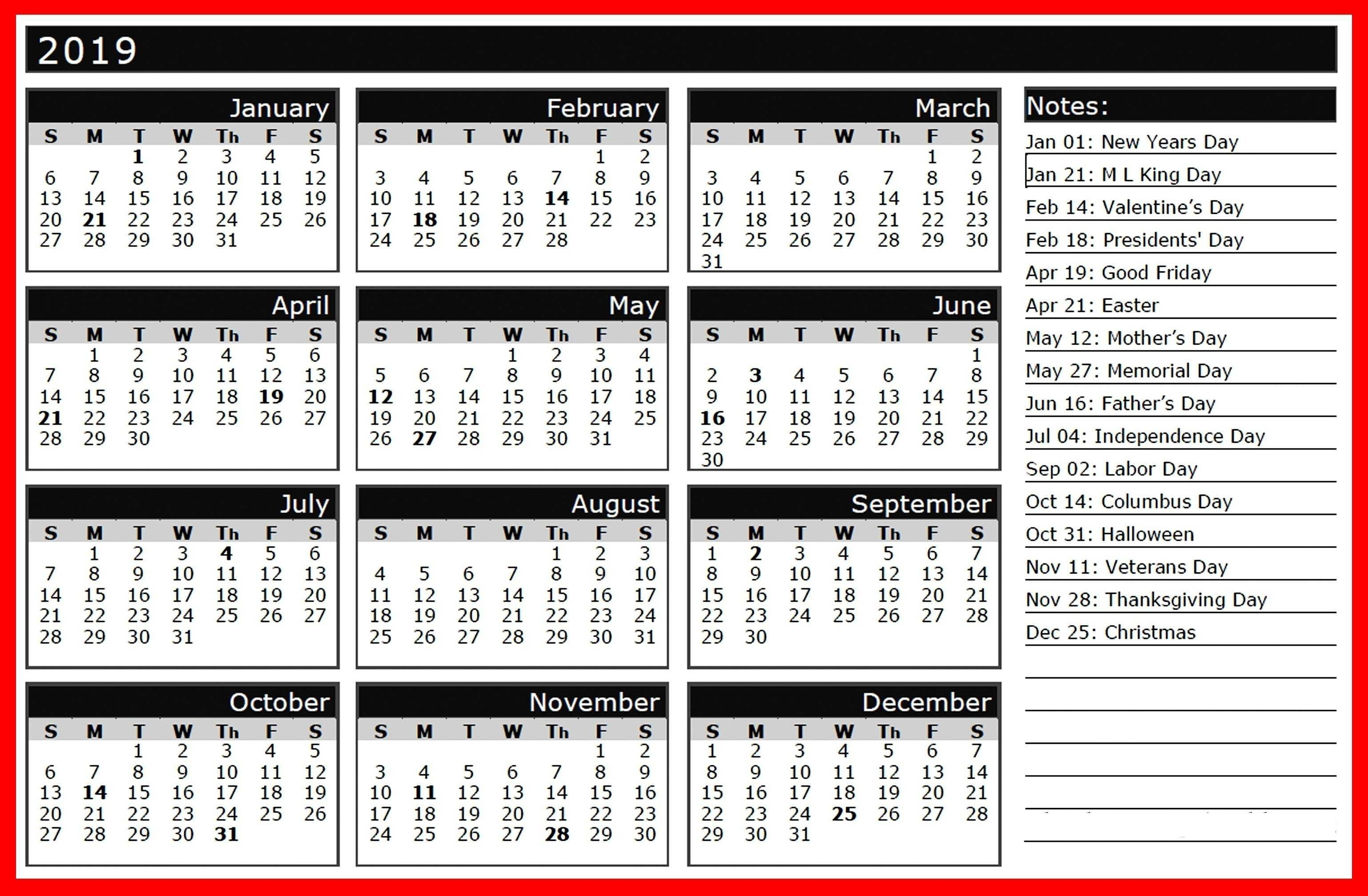 2018 Year Calendar Hd Wallpaper | 2019 Calendars | 2019 Calendar Year Calendar With Holidays