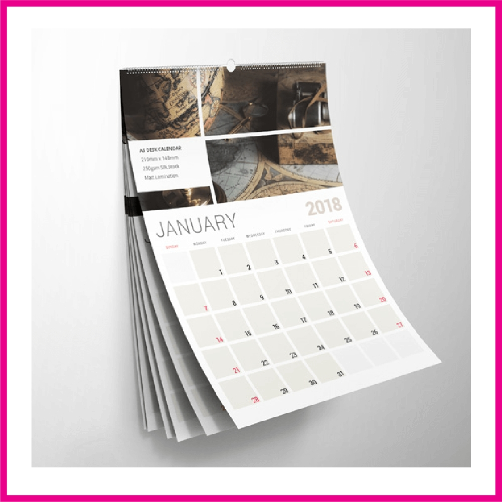 2020 Calendar Printing Johannesburg- South Africa For R1.50 Each Calendar Printing Price List