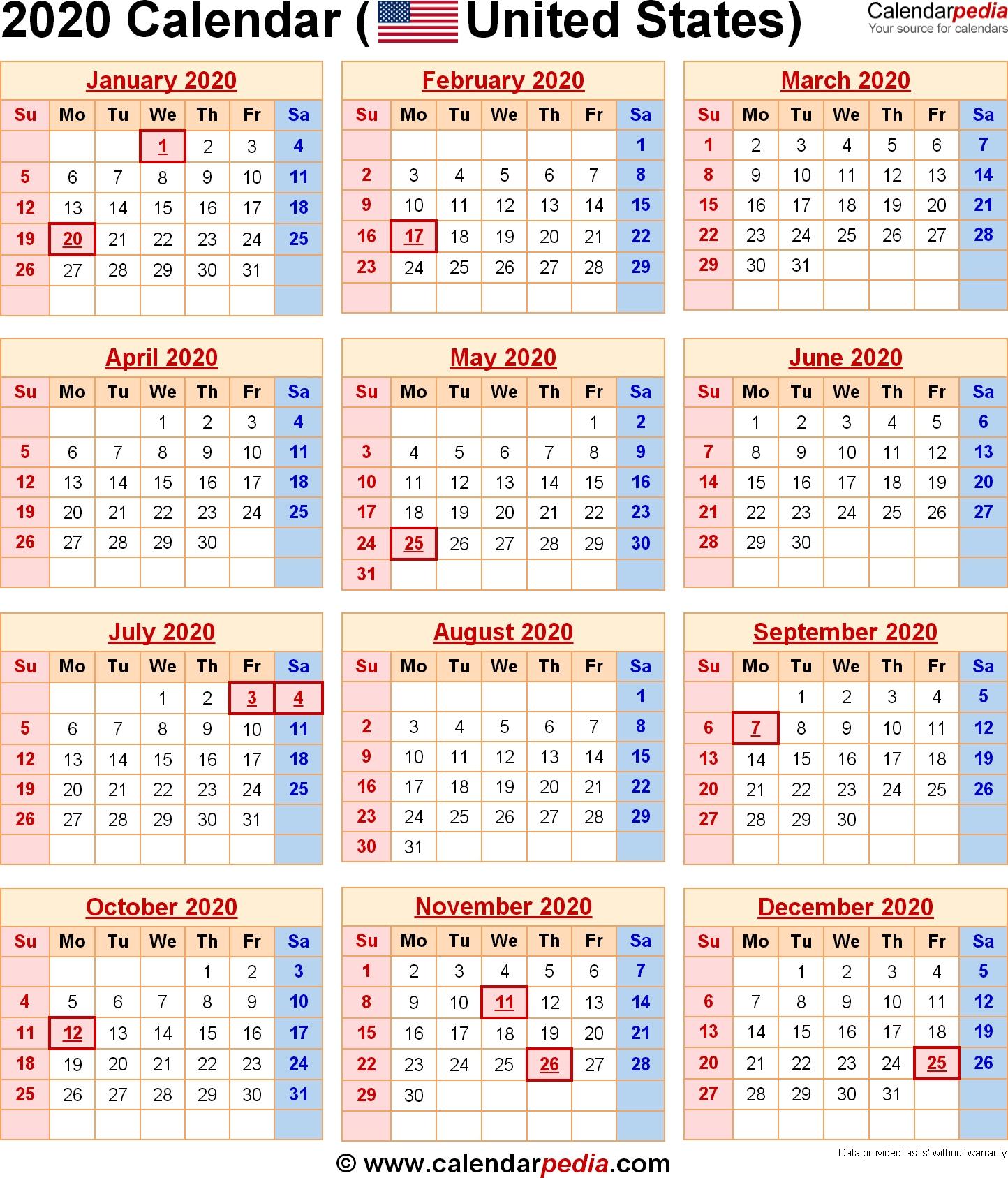 2020 Calendar With Federal Holidays & Excel/pdf/word Templates Dashing 2020 Calendar With Holidays